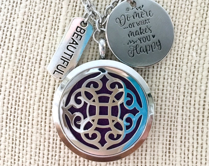 Aromatherapy Necklace, Essential Oils Locket, Diffuser Necklace, Perfume Locket