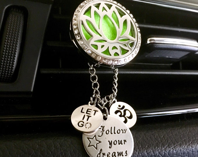 Car Scent Diffuser, Aromatherapy Locket, Car Oils Diffuser, Lotus Locket, Diffuser Locket