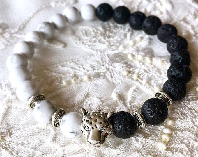 Aromatherapy Bracelet, Black Lava Rock Beads, Diffuser Bracelet, Men's Bracelet