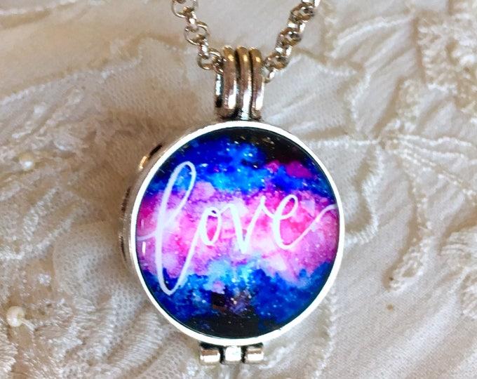 Aromatherapy Necklace, Essential Oils Locket, Diffuser Necklace, Love Locket, Cross Pendant