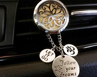 Car Scent Diffuser, Aromatherapy Car Locket, Essential Oils Diffuser,