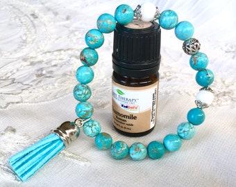 Tassel Bracelet, Diffuser Bracelet, Aromatherapy Bracelet, Essential Oils Bracelet, Beaded Bracelet