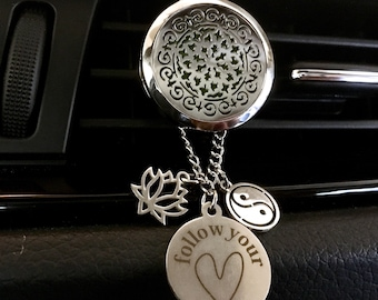 Car Scent Diffuser, Aromatherapy Locket, Essential Oils Diffuser, Oils Diffuser Locket