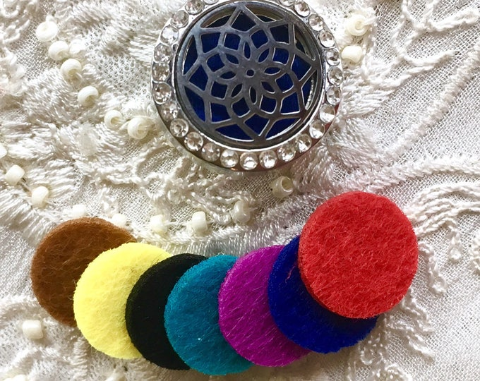 Replacement Felt Pads, 14mm Felt Pads for Aromatherapy Lockets, Refill Pads for 22mm Snap Button Locket
