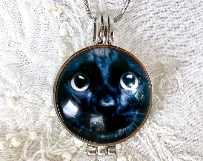 Diffuser Necklace, Aromatherapy Necklace, Essential Oils Locket, Cat  Locket, Music Locket