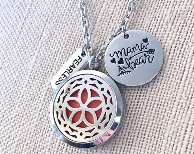 Diffuser Necklace, Aromatherapy Locket, Essential Oils Necklace