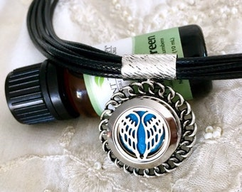 Aromatherapy Necklace, Snap Button Necklace, Essential Oils Locket, Diffuser Locket