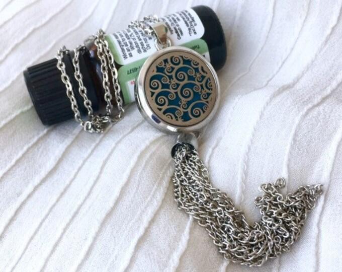 Essential Oils Locket, Aromatherapy Necklace, Tassel Diffuser Locket, Perfume Necklace