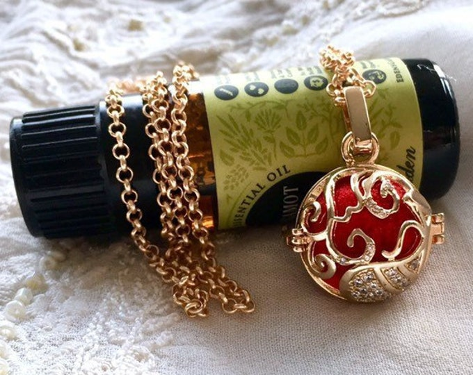Essential Oils Locket, Diffuser Necklace, Aromatherapy Locket