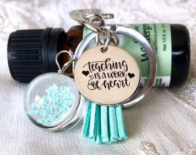 Tassel Diffuser Keychain, Dried Flower Purse Clip, Aromatherapy Keychain