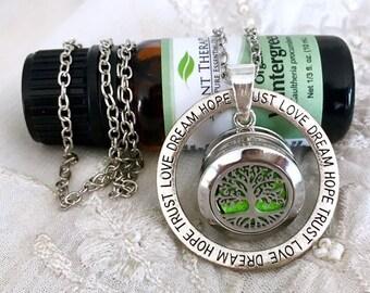 Essential Oils Necklace, Snap Button Aromatherapy Locket, Diffuser Necklace, Snap Charm Necklace