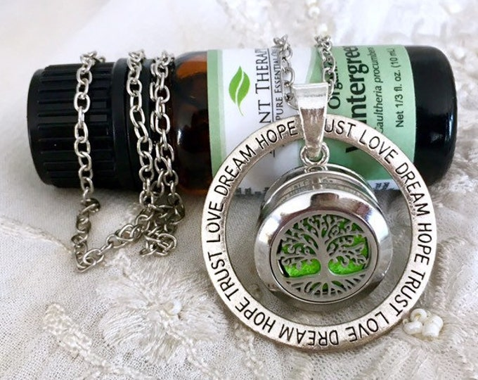 Essential Oils Necklace, Snap Button Aromatherapy Locket, Diffuser Necklace, Snap Charm Necklace