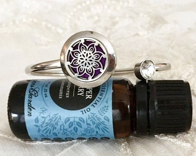 Essential Oils Bracelet, Diffuser Cuff  Bracelet, Aromatherapy Bangle