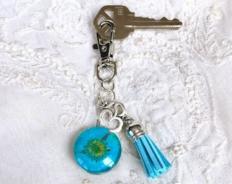 Tassel Diffuser Keychain, Dried Flower Purse Clip, OM Charm Aromatherapy Keychain