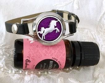 Aromatherapy Bracelet, Diffuser Bracelet, Essential Oils Locket, Lotus Locket, Yoga Bracelet