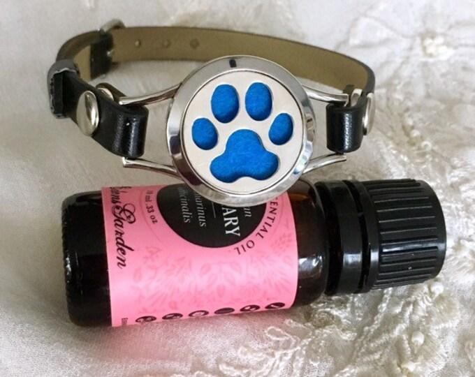 Aromatherapy Bracelet, Diffuser Locket Bracelet, Leather Bracelet, Essential Oils Diffuser Locket, Scent Diffuser Bracelet