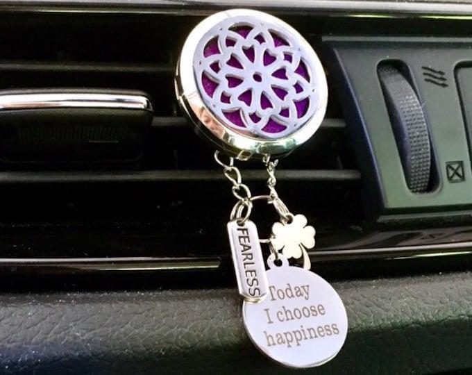 Car Diffuser, Essential Oils Locket, Aromatherapy Car Locket, Car Scent Diffuser Locket