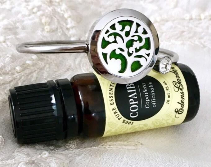 Essential Oils Bracelet, Aromatherapy Diffuser Cuff Bracelet, Scent Locket