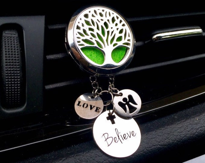 Essential Oils Car Diffuser, Aromatherapy Locket, Tree of Lit Charms Diffuser