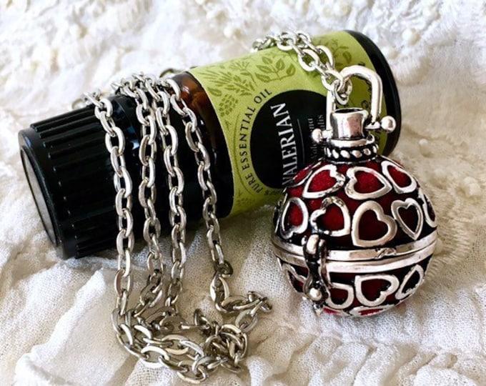 Diffuser Locket Necklace, Cage Locket, Essential Oils Necklace, Aromatherapy Locket