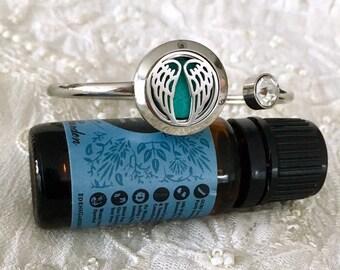 Diffuser Bracelet, Aromatherapy Bracelet, Essential Oils Locket, Cuff Bracelet