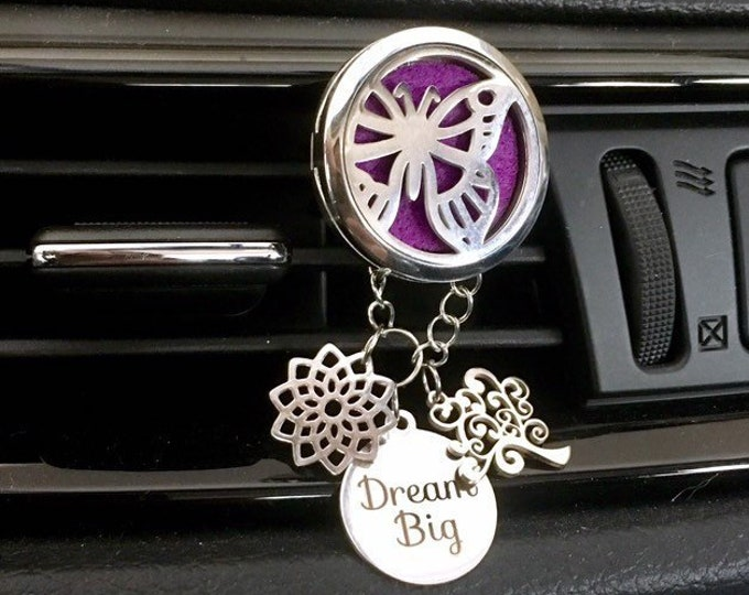 Aromatherapy Diffuser, Butterfly Car Oils Diffuser, Essential Oils Locket, Car Scent Diffuser