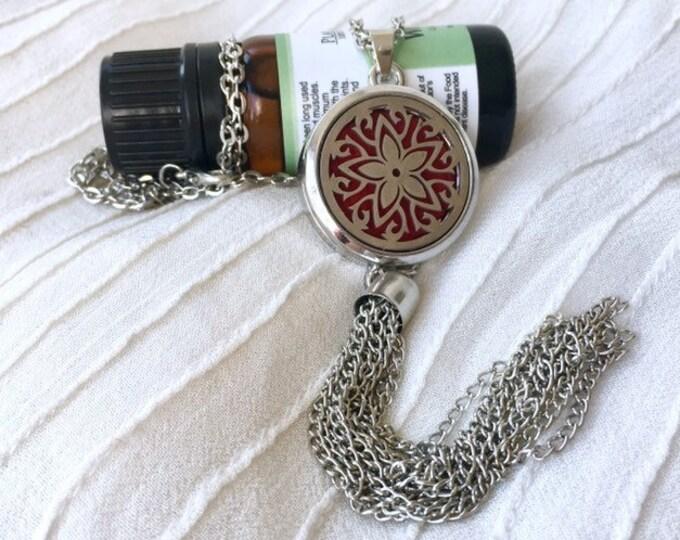 Aromatherapy Necklace, Essential Oils Locket, Tassel Diffuser Necklace, Scent Diffuser Locket