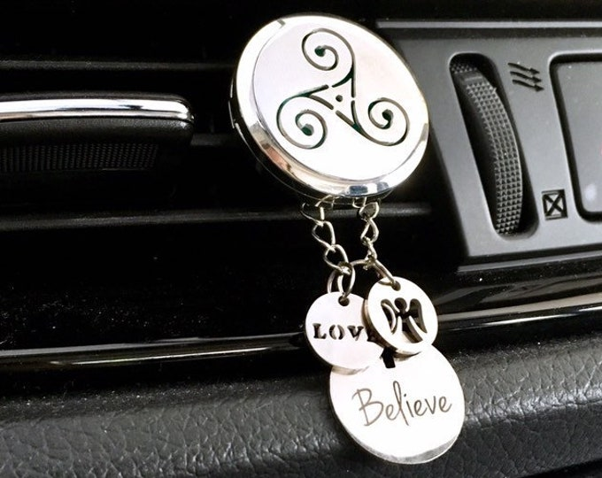 Car Diffuser, Celtic Aromatherapy Car Locket, Essential Oils Diffuser, Car Scent