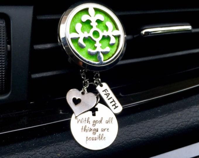 Essential Oils Car Diffuser, Aromatherapy Locket, Vent Clip