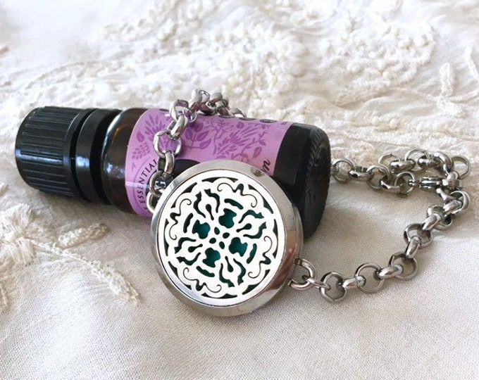 Aromatherapy Bracelet, Diffuser Locket, Cross Essential Oils Bracelet, Lotus Bracelet
