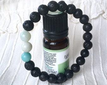 Diffuser Bracelet, Healing Bracelet, Aromatherapy Bracelet, Lava Rock Beads