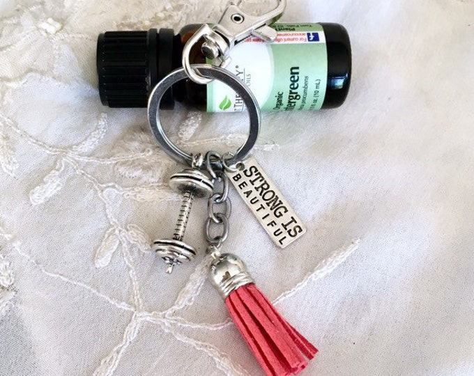Aromatherapy Tassel Keychain , Purse Diffuser Clip On, Essential Oils Zipper Fitness Charm