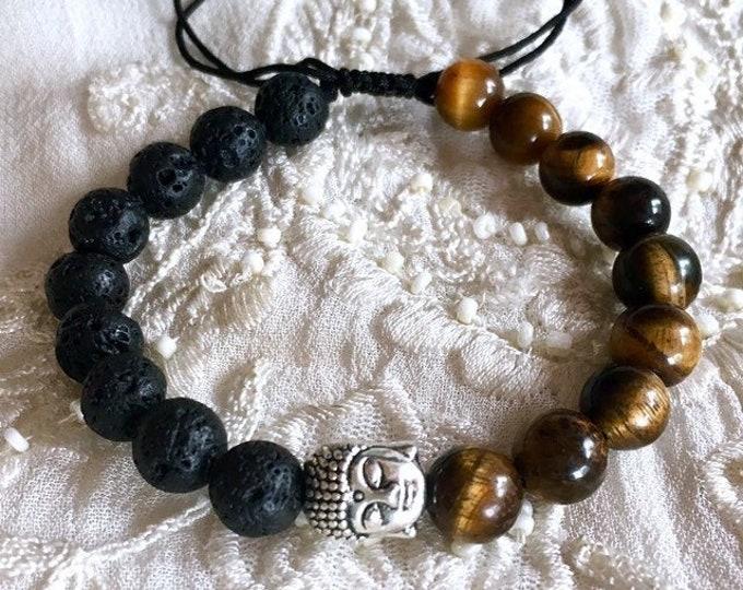 Aromatherapy Bracelet, Buddha Diffuser Bracelet, Yoga Bracelet, Essential Oils Bracelet