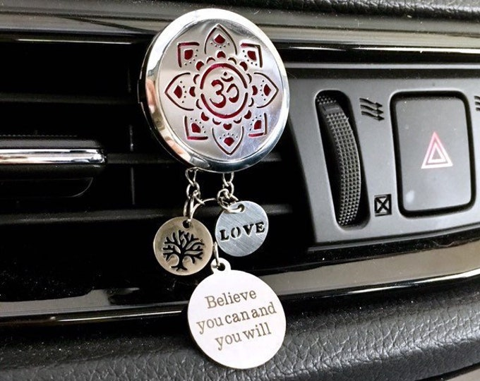 Car Diffuser, Yoga Aromatherapy Locket, Om Essential Oils Diffuser, Car Scent Diffuser