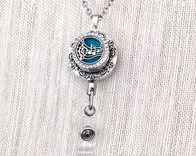 Snap Button Diffuser Locket, Badge Reel Holder, ID Card Holder, Essential Oils Locket, Aromatherapy Snap Charm