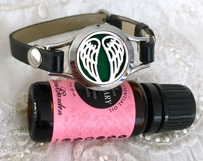Essential Oils Bracelet, Aromatherapy Bracelet, Diffuser Locket, Cross Locket, Angel's Wings