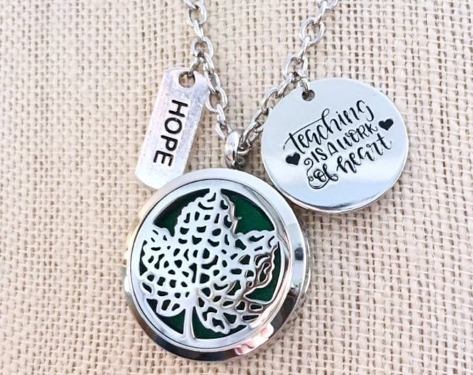 Essential Oils Locket, Aromatherapy Necklace, Diffuser Locket, Perfume Necklace