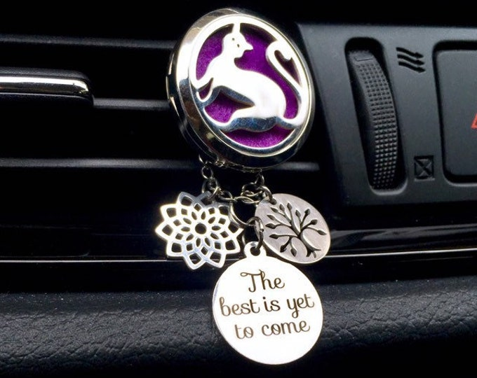 Essential Oils Car Diffuser, Aromatherapy Locket, Cat Lover Diffuser