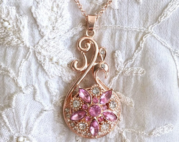 New! Snap Button Necklace, Rose Gold Snap Charms, Gold Charm Pendant