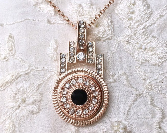 Rose Gold Necklace, Snap Button Necklace, Snap Charms