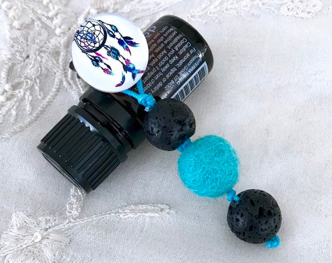 Dream catcher Essential Oils Car Diffuser, Aromatherapy Black Lava Charm Diffuser