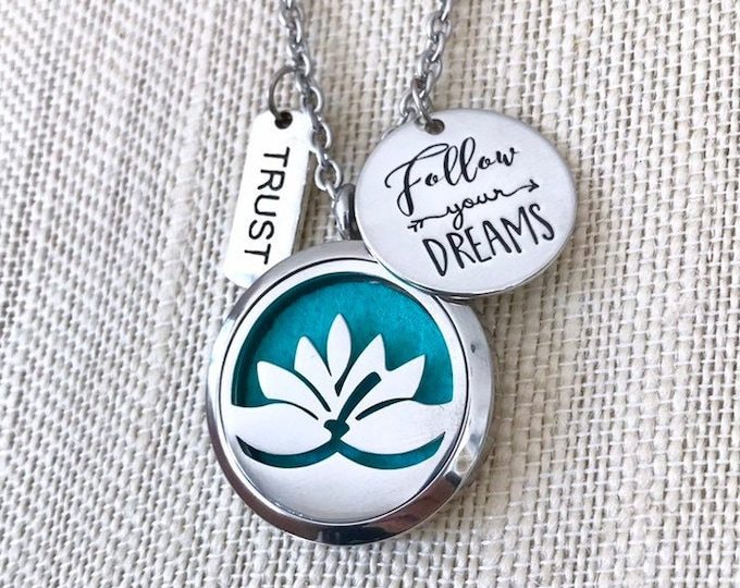 Aromatherapy Locket, Essential Oils Diffuser Necklace, Scent Locket, Perfume Necklace