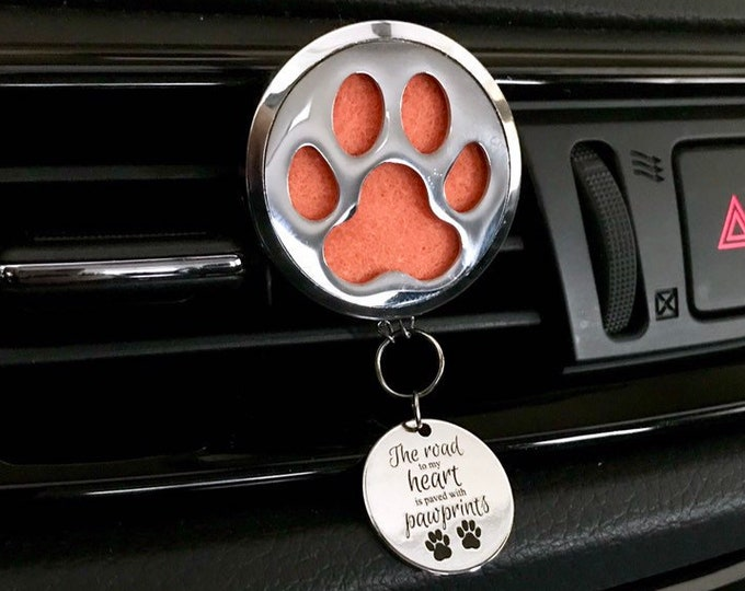 Car Essential Oils Diffuser, 38mm Large Aromatherapy Locket with Charms,  Pet Lover Car Scent Diffuser
