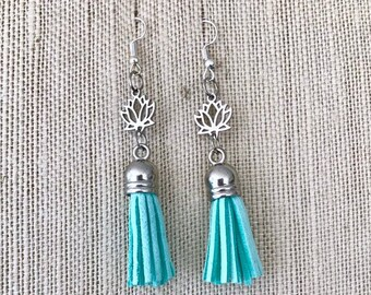 Tassel Earrings, Suede Aromatherapy Earrings, Diffuser Charms Earrings