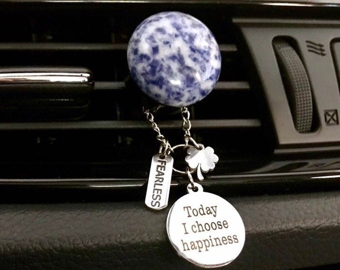 Aromatherapy Car Diffuser, Gemstone Essential Oils Diffuser, Charms Car Scent Diffuser