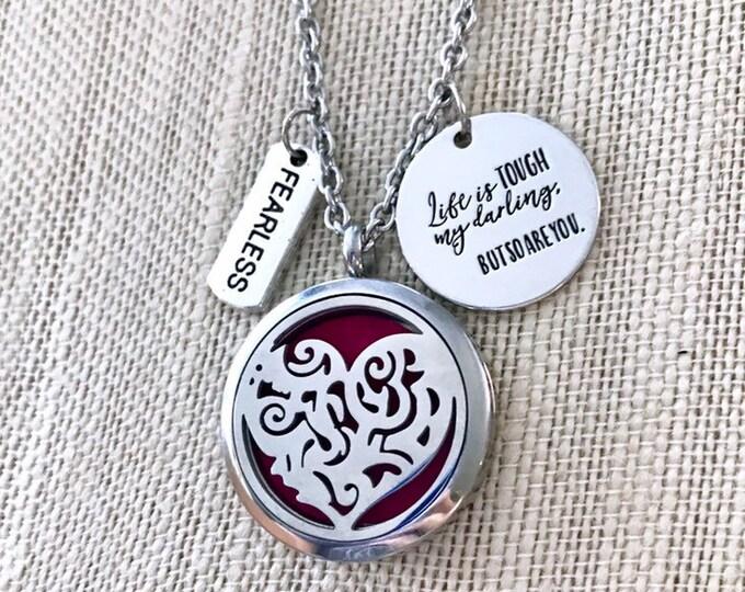 Aromatherapy Locket, Essential Oils Necklace, Diffuser Locket, Heart Locket Necklace