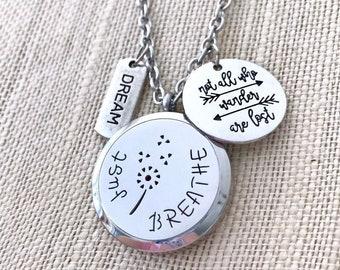 Aromatherapy Locket, Essential Oils Diffuser Necklace, Diffuser Locket, Aromatherapy Necklace