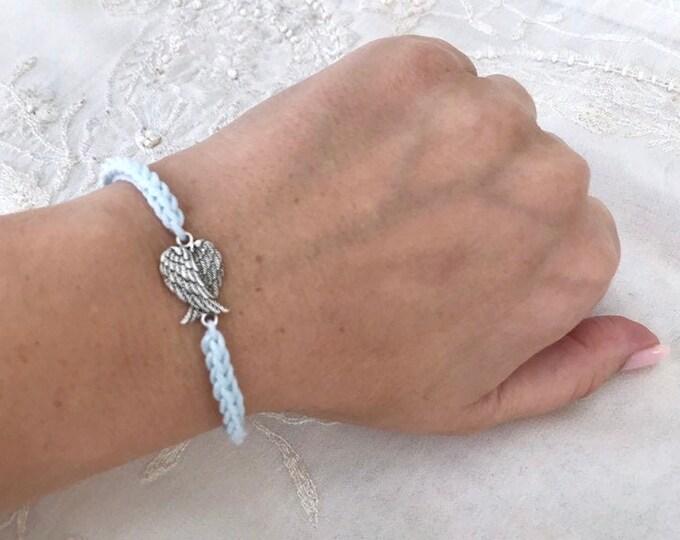 Crochet Charm Bracelet, Knitted  Bracelet, Braided Boho Fabric Jewelry