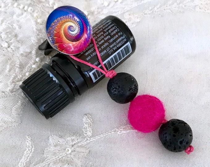 Essential Oils Car Diffuser, Aromatherapy Black Lava Charm Diffuser