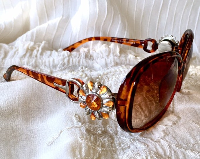 Brown Sunglasses, Snap Button Sunglasses, Snap Charms